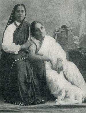 Photo of Gurubai Karmarkar with a patient,c.1915. Congregational Library Exhibit