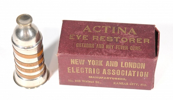 The Actina & its packaging, c.1886 (Museum of Historical Medical Artifacts)