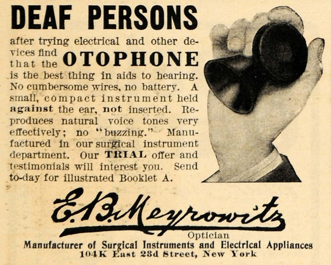 1908 Otophone Ad