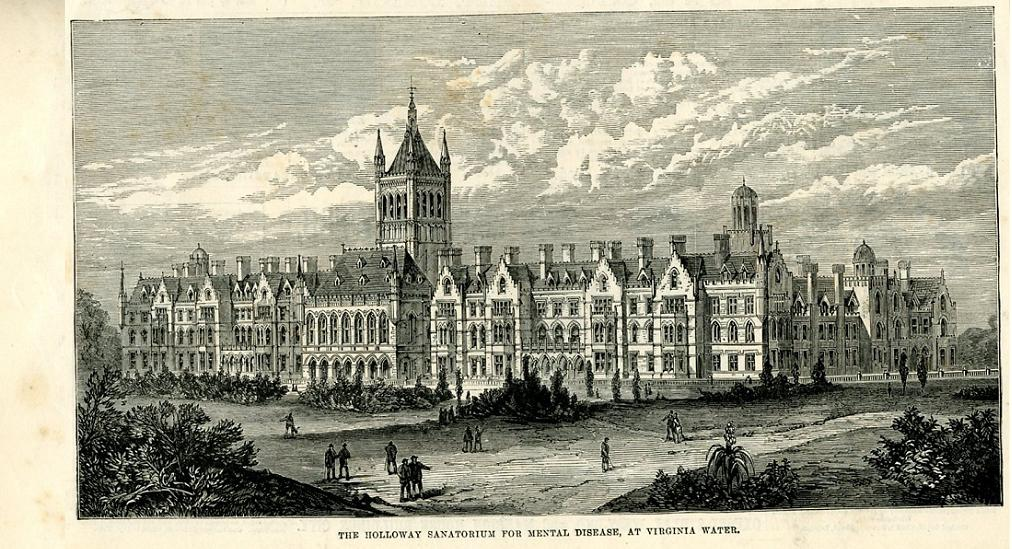 Holloway Sanatorium. Wood-engraving from the Illustrated London News, 5 January 1884