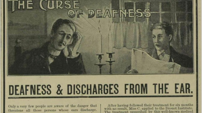 "Advertisement, ""The Curse of Deafness,"" Illustrated London News, 1900."